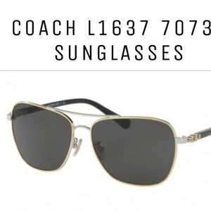 Coach Square Aviators silver/gold/black